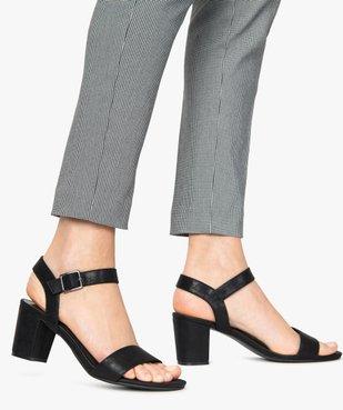 Sandales femme à talon et larges brides vue1 - GEMO(URBAIN) - GEMO