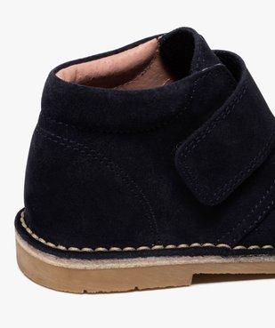 Boots enfant unis en cuir à fermeture scratch vue6 - GEMO (ENFANT) - GEMO