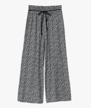 Pantalon femme ample et fluide à motifs vue4 - GEMO(FEMME PAP) - GEMO