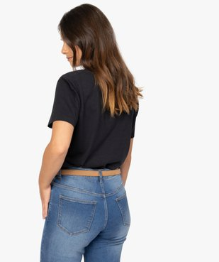Tee-shirt femme à col V et manches courtes vue3 - Nikesneakers(FEMME PAP) - Nikesneakers