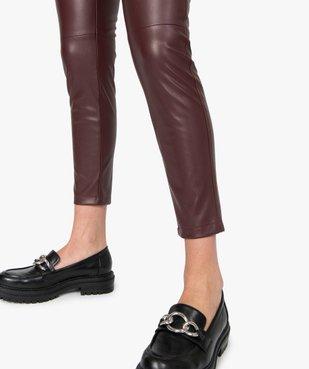 Pantalon femme en matière synthétique coupe slim vue2 - GEMO(FEMME PAP) - GEMO