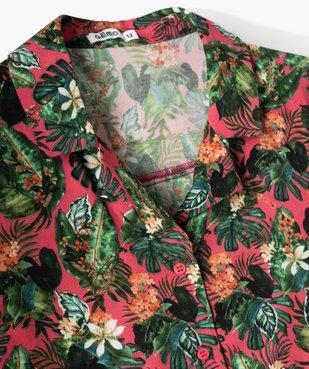 Chemise fille coupe courte à nouer dans le bas vue2 - GEMO (JUNIOR) - GEMO