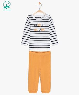 Pyjama garçon en jersey façon mix&match vue1 - GEMO C4G BEBE - GEMO