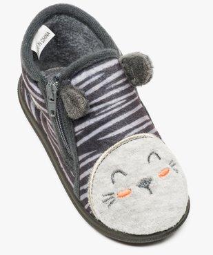 Chaussons bébé garçon en velours avec motif tigre vue5 - GEMO C4G BEBE - GEMO