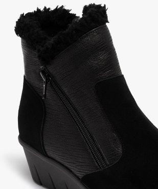 Boots femme confort unies à talon et doublure chaude vue6 - GEMO (CONFORT) - GEMO