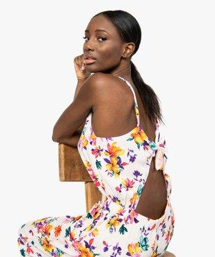 Combinaison pantalon femme à motifs fleuris vue5 - GEMO(FEMME PAP) - GEMO