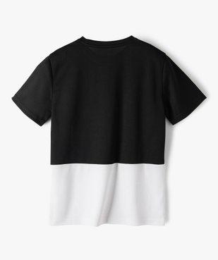 Tee-shirt garçon à manches courtes en maille légère vue3 - GEMO (ENFANT) - GEMO
