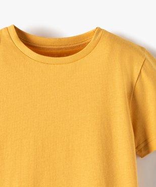 Tee-shirt garçon uni à manches courtes vue2 - Nikesneakers C4G GARCON - Nikesneakers