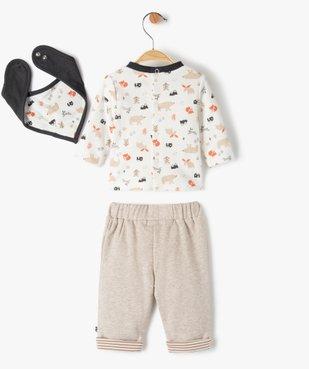 Ensemble bébé garçon 3 pièces : tee-shirt + foulard + pantalon - Sucre d'Orge vue4 - SUCRE D'ORGE - GEMO