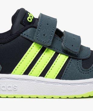 Baskets bébé garçon avec bandes fluo – Adidas Hoop 2.0 vue6 - ADIDAS - GEMO