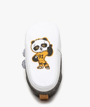 Chaussons de naissance bébé garçon en toile à scratch vue6 - Nikesneakers(BB COUCHE) - Nikesneakers