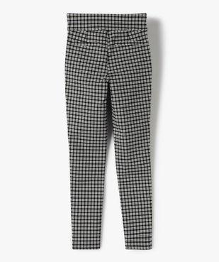 Pantalon fille en maille extensible avec ceinture plate vue3 - GEMO (JUNIOR) - GEMO