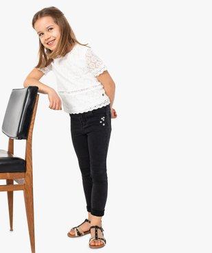 Tee-shirt fille en broderie - Lulu Castagnette vue5 - LULUCASTAGNETTE - GEMO