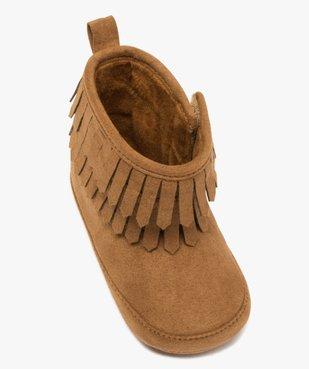 Chaussons bébé fille unis style boots à franges vue5 - GEMO C4G BEBE - GEMO