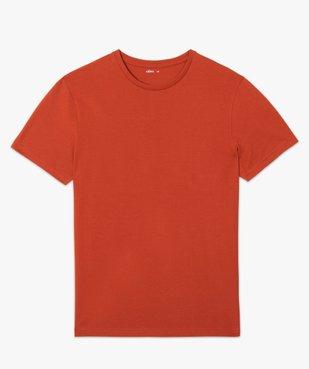 Tee-shirt homme à manches courtes uni vue4 - GEMO C4G HOMME - GEMO