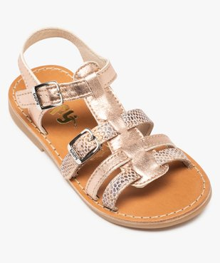Sandales fille à brides métallisées ajustables - Bopy vue5 - BOPY - GEMO
