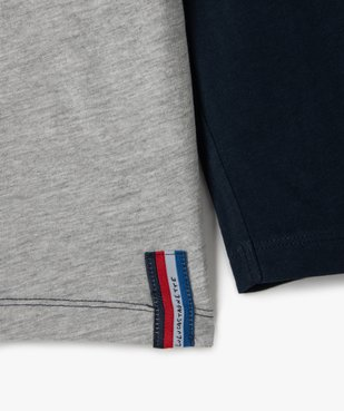 Tee-shirt garçon multicolore à manches longues - Lulu Castagnette vue2 - LULUCASTAGNETTE - GEMO