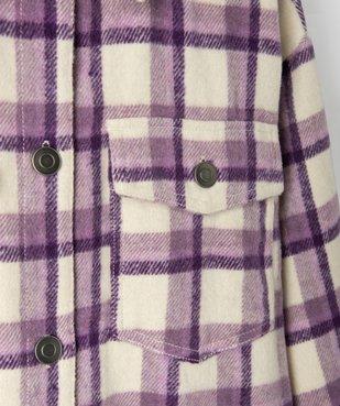 Veste fille façon chemise à carreaux vue2 - GEMO (JUNIOR) - GEMO