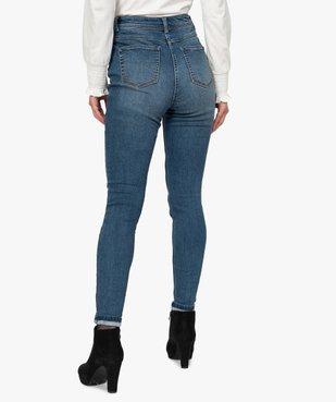 Jean femme skinny stretch taille haute délavé vue3 - GEMO C4G FEMME - GEMO