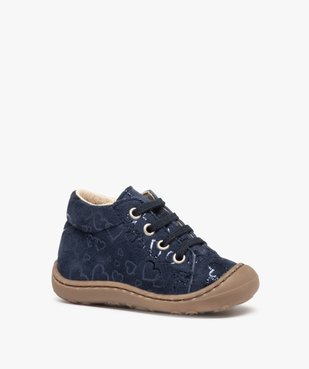 Chaussures premiers pas bébé fille dessus cuir retourné vue2 - Nikesneakers(BEBE DEBT) - Nikesneakers