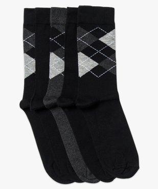 Lot de paires 5 de chaussettes hautes motif jacquard vue1 - GEMO(HOMWR HOM) - GEMO