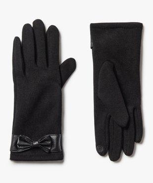 Gants femme tactiles et chauds avec nœud vue1 - GEMO (ACCESS) - GEMO
