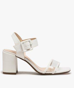 Sandales femme à talon carré et bride transparente vue1 - GEMO(URBAIN) - GEMO
