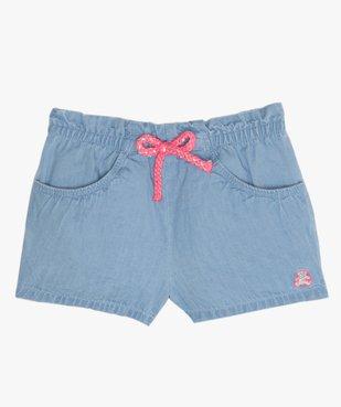 Short bébé fille en chambray – Lulu Castagnette vue1 - LULUCASTAGNETTE - GEMO