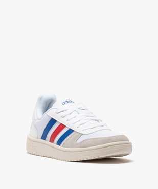Tennis femme tricolores à lacets – Adidas Hoops 2.0 vue2 - ADIDAS - Nikesneakers