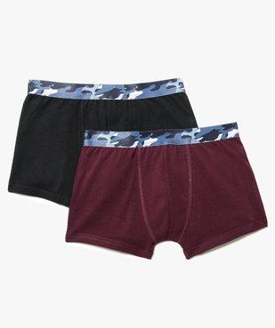 Lot de 2 boxers stretch avec large ceinture élastique imprimée camo vue1 - GEMO (JUNIOR) - GEMO