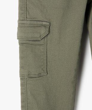 Pantalon fille avec poches à rabat sur les cuisses vue3 - GEMO C4G FILLE - GEMO