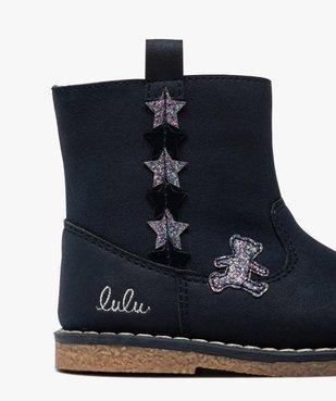 Boots bébé fille zippés à détails pailletés – Lulu Castagnette vue6 - LULU CASTAGNETT - GEMO