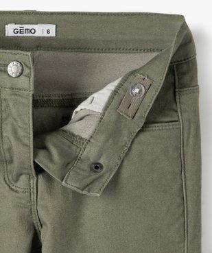 Pantalon fille avec poches à rabat sur les cuisses vue2 - GEMO C4G FILLE - GEMO