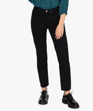Jean femme coupe regular taille normale noir vue1 - GEMO(FEMME PAP) - GEMO