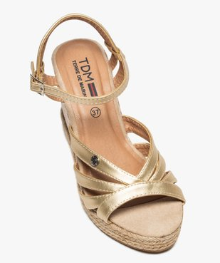Sandales femme à talon compensé et fines brides – Terre de Marins vue5 - TERRE DE MARINS - GEMO