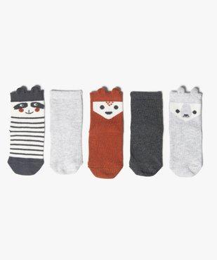 Chaussettes bébé à tige animée (lot de 5) vue1 - GEMO C4G BEBE - GEMO