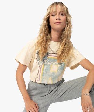 Tee-shirt femme avec large motif – Camps United vue1 - CAMPS UNITED - GEMO