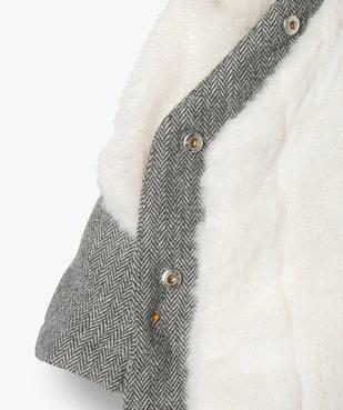 Manteau bébé fille avec écharpe douce - Lulu Castagnette vue4 - LULUCASTAGNETTE - GEMO