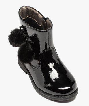 Boots fille vernies avec pompons sur le côté vue5 - GEMO (ENFANT) - GEMO