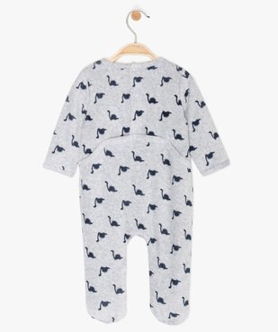 Pyjama bébé garçon en velours à motifs dinosaures vue3 - GEMO C4G BEBE - GEMO