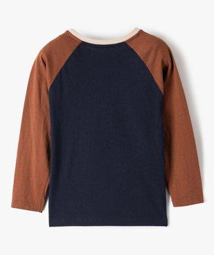 Tee-shirt garçon à manches longues multicolore à motif velours vue4 - Nikesneakers (ENFANT) - Nikesneakers