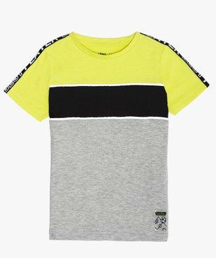 Tee-shirt garçon tricolore spécial sport vue1 - GEMO (ENFANT) - GEMO