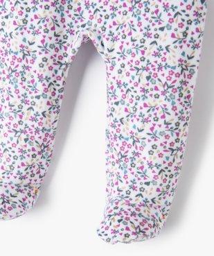 Pyjama bébé fille en velours effet 2 en 1 vue3 - GEMO(BB COUCHE) - GEMO