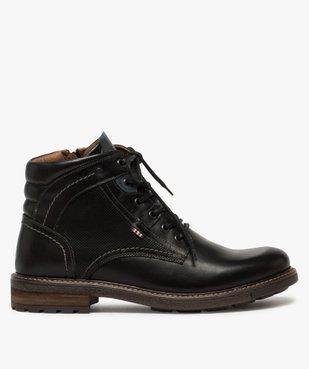 Boots homme zippés à lacets dessus cuir et col rembourré vue1 - Nikesneakers (CASUAL) - Nikesneakers