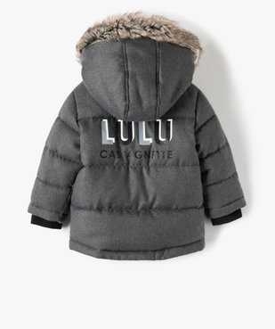Parka bébé garçon matelassée - Lulu Castagnette vue5 - LULUCASTAGNETTE - GEMO