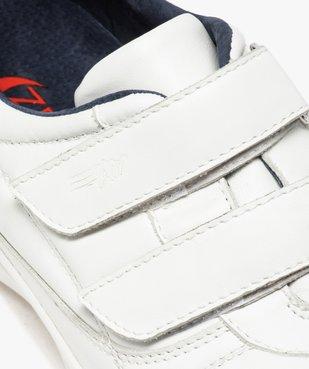 Baskets homme confort unies en cuir fermeture scratch vue6 - ZEN AIR - GEMO