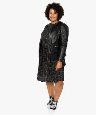 Veste femme col rond et fermeture zippée vue5 - GEMO (G TAILLE) - GEMO