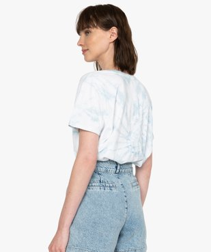 Tee-shirt femme à manches courtes oversize vue3 - GEMO(FEMME PAP) - GEMO