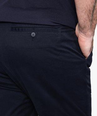 Pantalon homme en toile coupe Straight vue2 - GEMO (G TAILLE) - GEMO