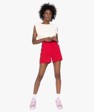 Short femme ample taille haute à pont boutonné vue5 - GEMO(FEMME PAP) - GEMO